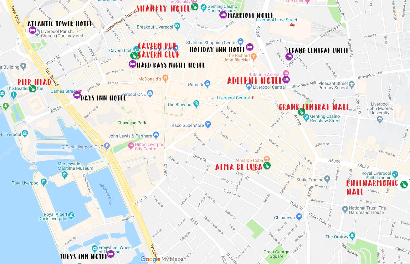 Festival Map - International Beatle Week on